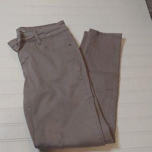 Gray skinny pants